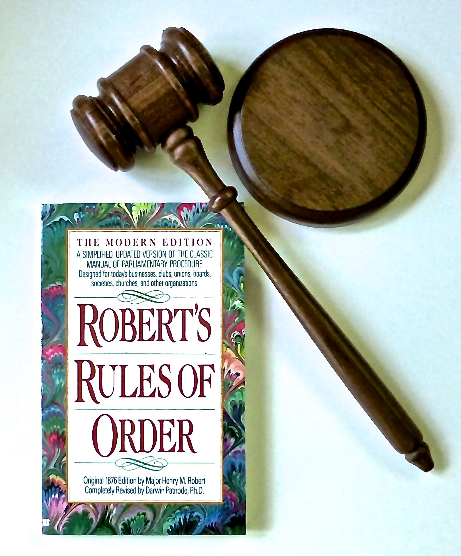 Gavel & Block & Robert's Rules of Order by Valley Forge Wood Products