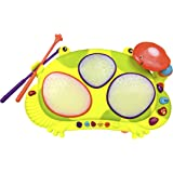 B. Toys Ribbit-Tat-Tat Light-Up Musical Drum – Ages 2 and Up