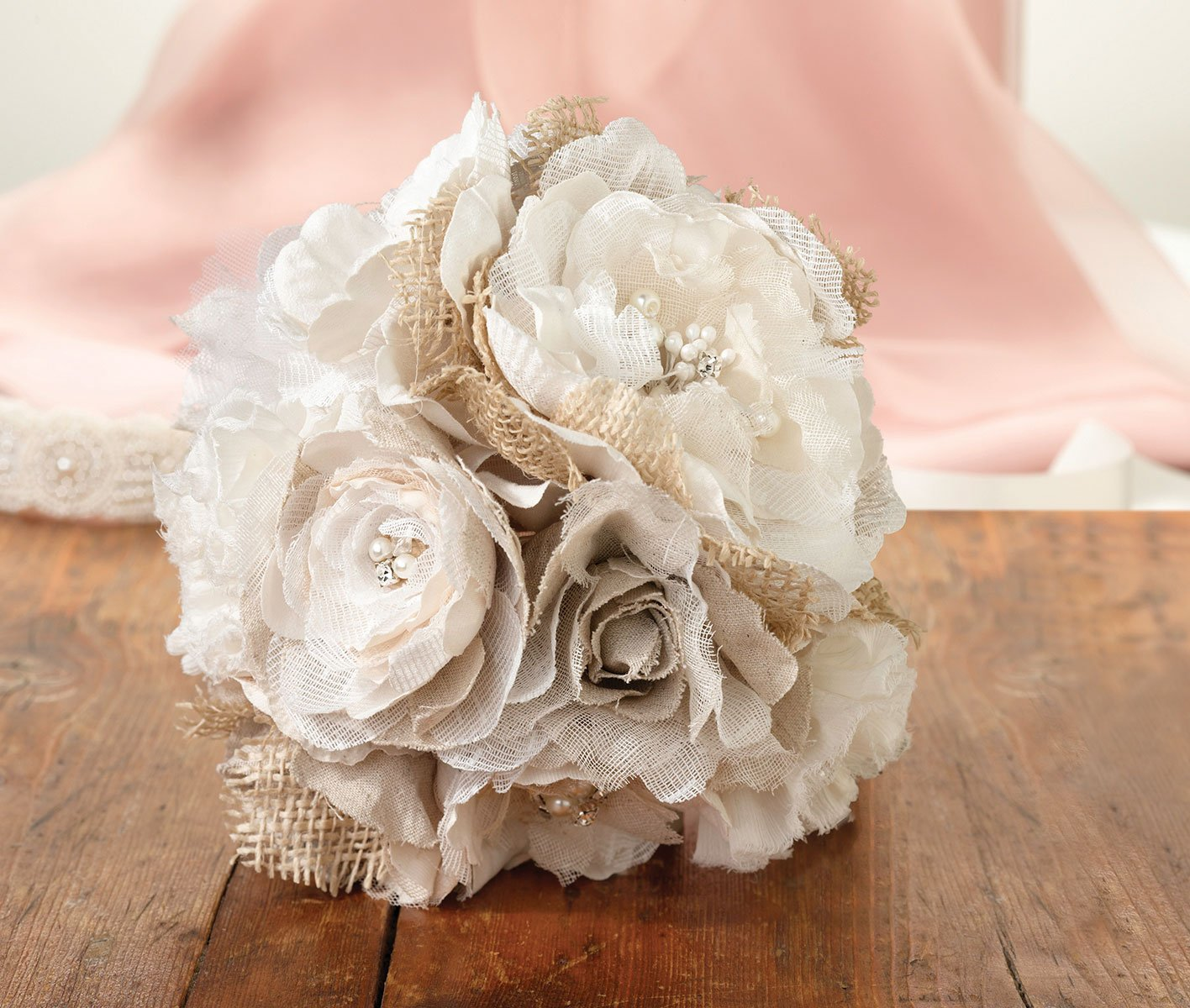 Lillian-Rose-Rustic-Country-Wedding-Burlap-Flower-Bouquet