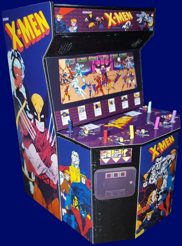 Amazon.com : Mini X-men 6 Player Arcade Cabinet Collectible ...