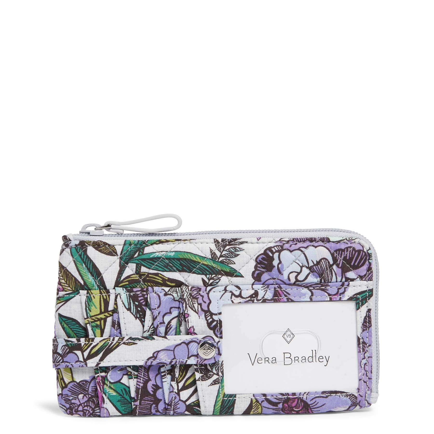 Vera Bradley Iconic RFID Ultimate Card Case, Signature Cotton, Lavender Meadow