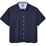 Van Heusen Men's Big and Tall Never Tuck Short Sleeve Button Down Shirt