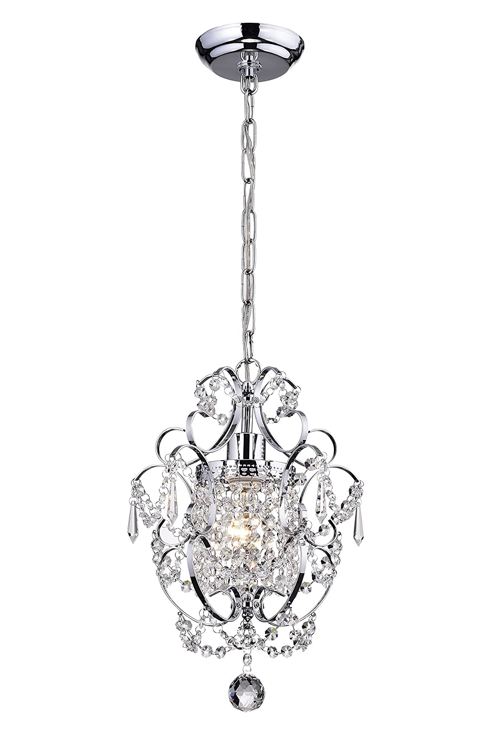 Amorette Chrome Finish Mini Chandelier Wrought Iron Ceiling Light Fixture Wiring As Well A Wires Besides Electrical
