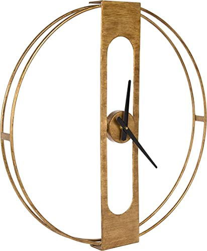 Kate and Laurel Urgo Numberless Modern Metal Wall Clock