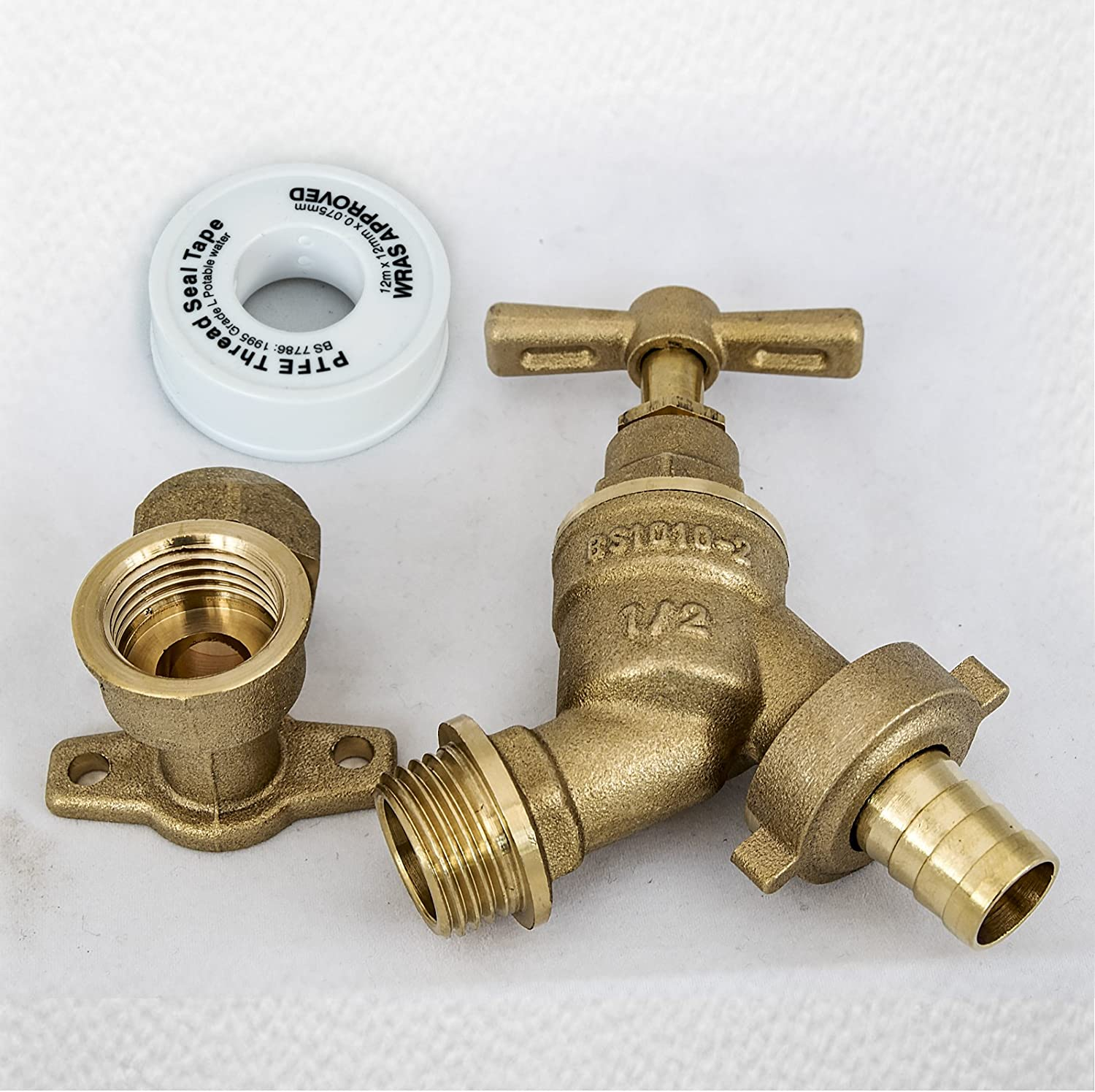"""15mm 1//2/"""" Garden Outside Outdoor Tap Hose Connector Kit PTFE Tape"""