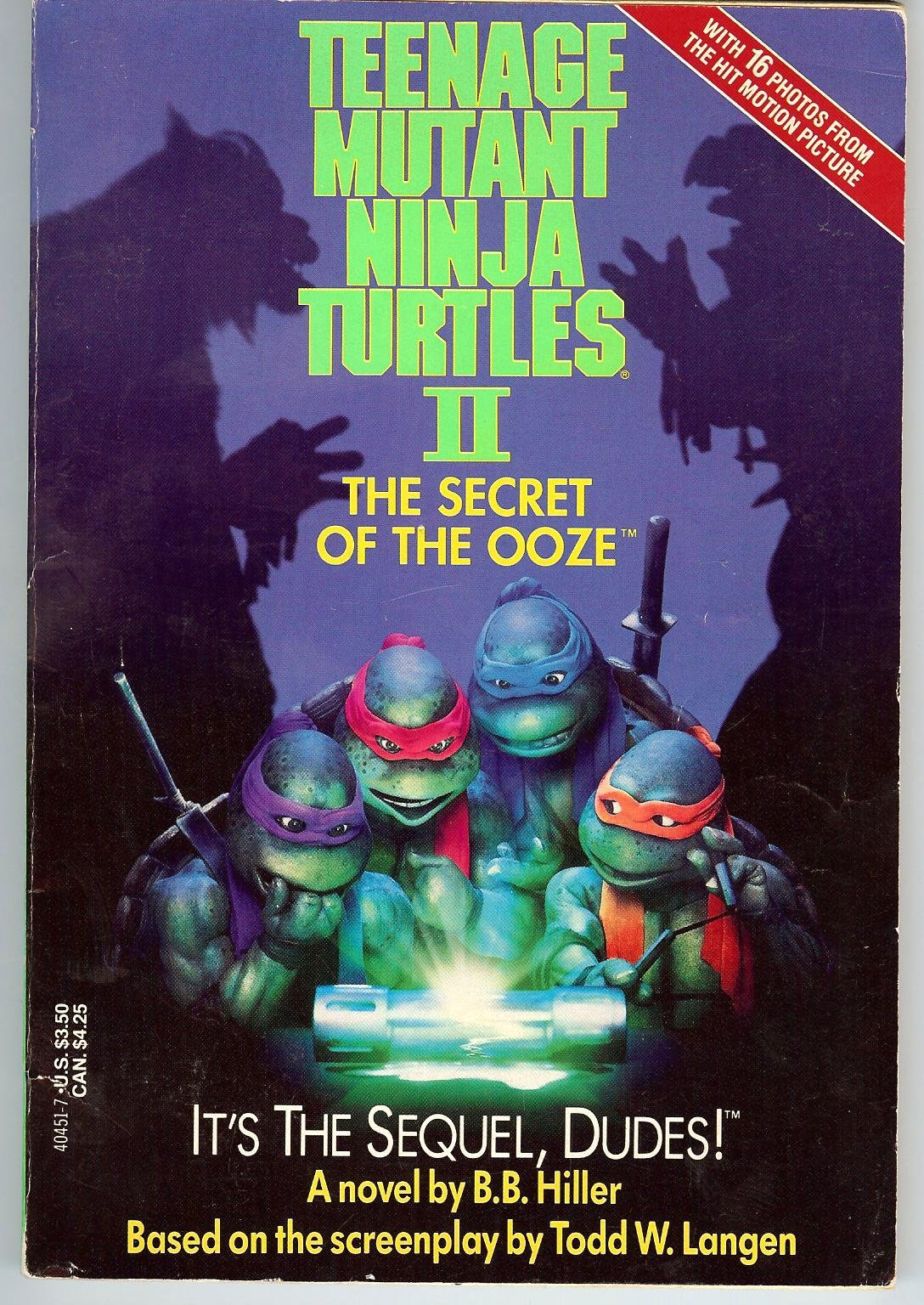 Teenage Mutant Ninja Turtles 2 The Secret Of The Ooze Hiller B B 9780440404514 Amazon Com Books