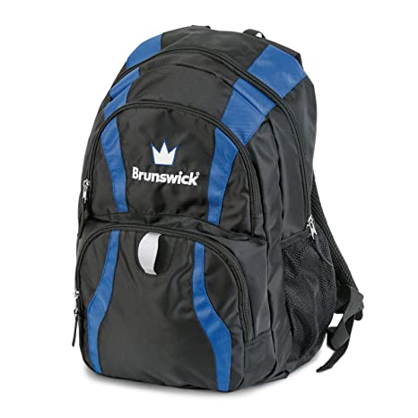 New Brunswick Bowling >> Brunswick Crown Backpack Bowling Bag Black Royal