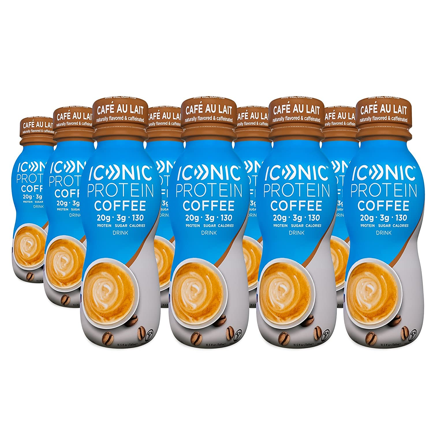 Cafe au lait kitchen decor - Amazon Com Iconic Beverages Iconic Grass Fed Protein Drink Caf Au Lait 11 5 Ounce Pack Of 12 Amazon Launchpad