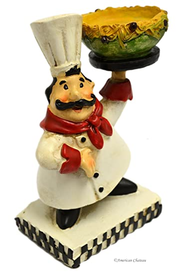 5.25u0026quot; Small Fat French Chef Statue Figurine Kitchen Bistro Decor