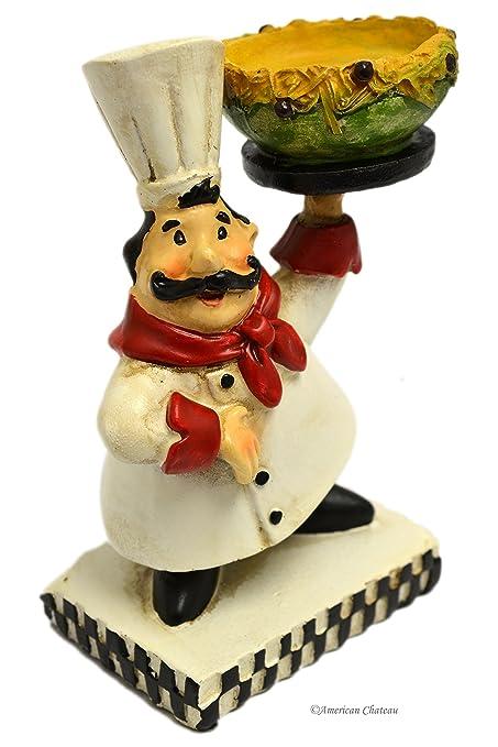 Delicieux 5.25u0026quot; Small Fat French Chef Statue Figurine Kitchen Bistro Decor