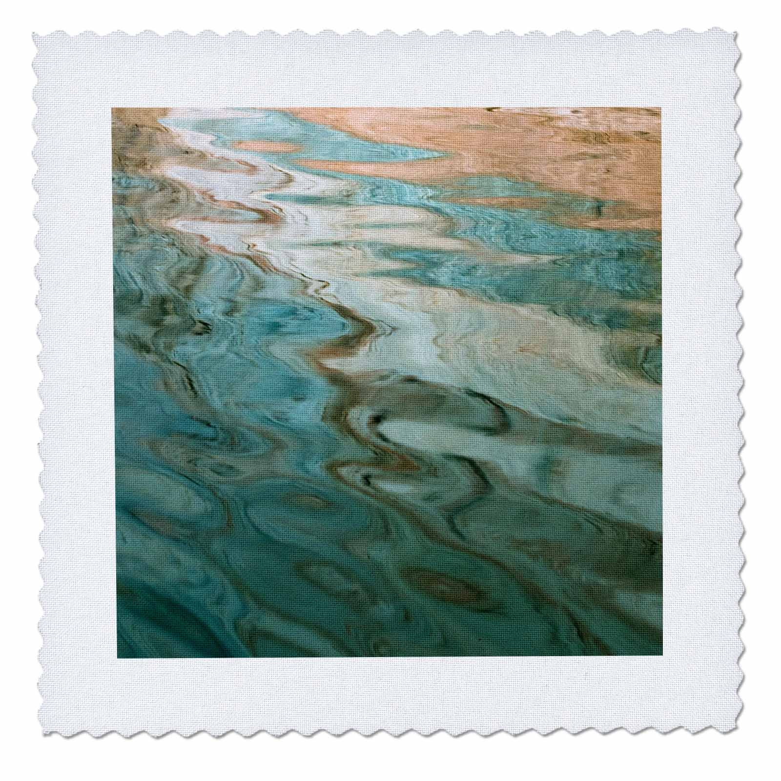 3dRose Danita Delimont - Abstracts - Utah. Colorful abstract reflections of canyon walls on Lake Powell. - 16x16 inch quilt square (qs_260239_6)