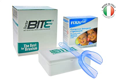 Doctor Bite Pro - Férula dental automoldeable para combatir el Bruxismo (Azul)