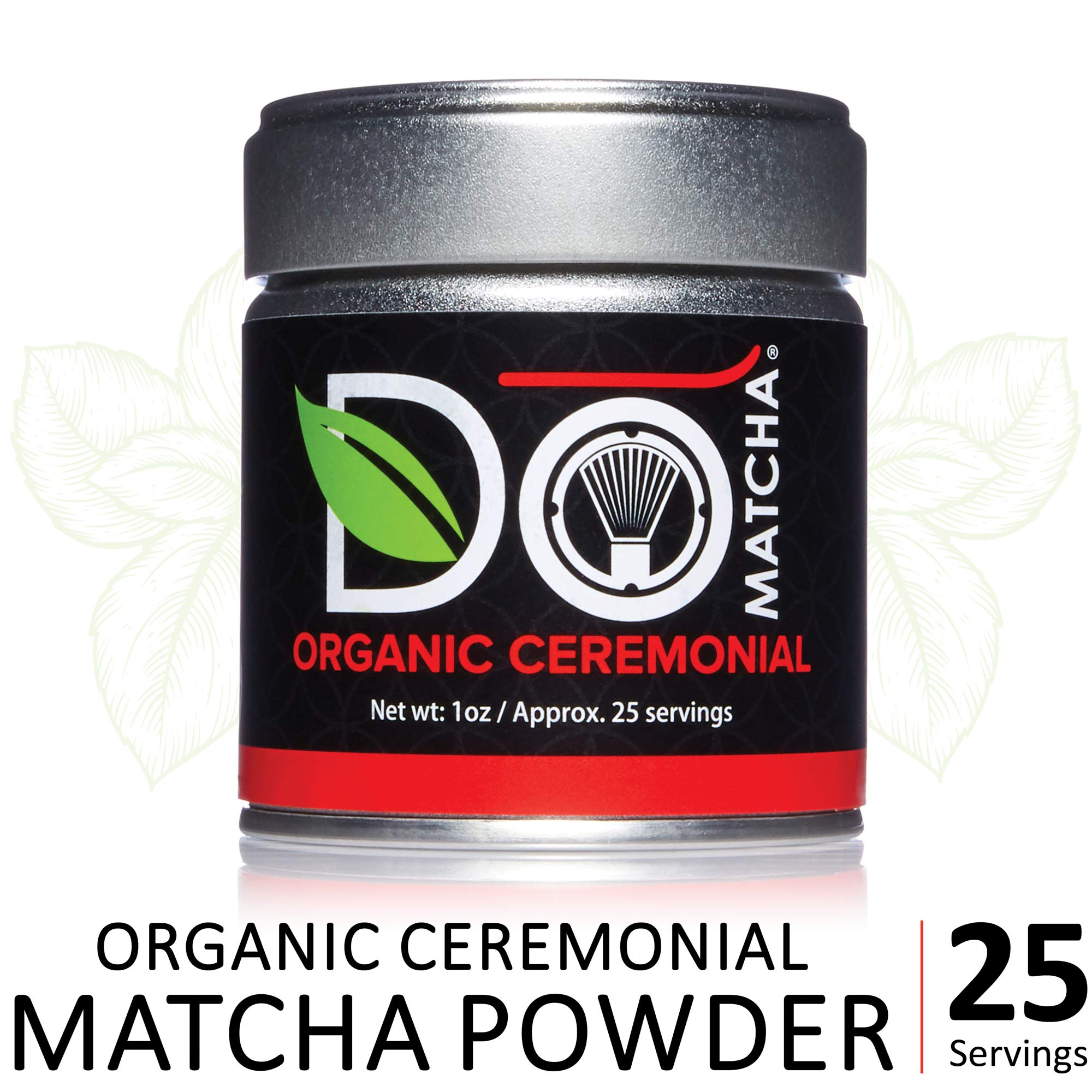 DoMatcha - Organic Ceremonial Green Tea Matcha Powder, Natural Source of Antioxidants, Caffeine, and L-Theanine, Promotes Focus and Relaxation, 25 Servings (1 oz) by DoMatcha