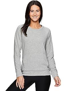 RBX Active Womens Fashion Athleisure Long Sleeve Sweater Lightweight Pullover Sweatshirt