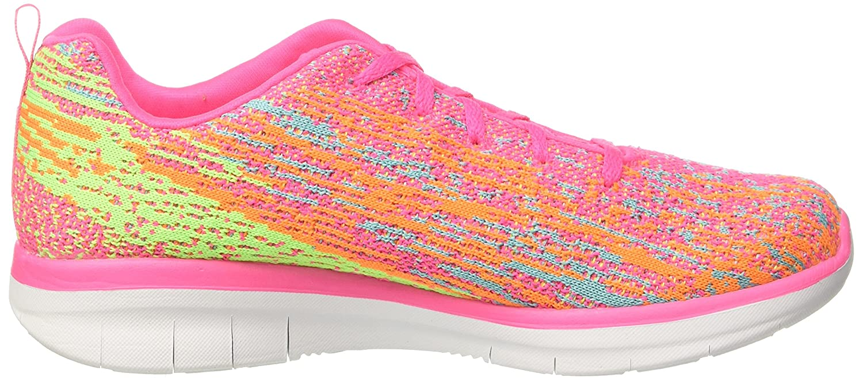 Skechers Damen Synergy 2.0-High Spirits Sneaker, blau Mehrfarbig Pink/Multicolour) (Hot Pink/Multicolour) Mehrfarbig 51e01e