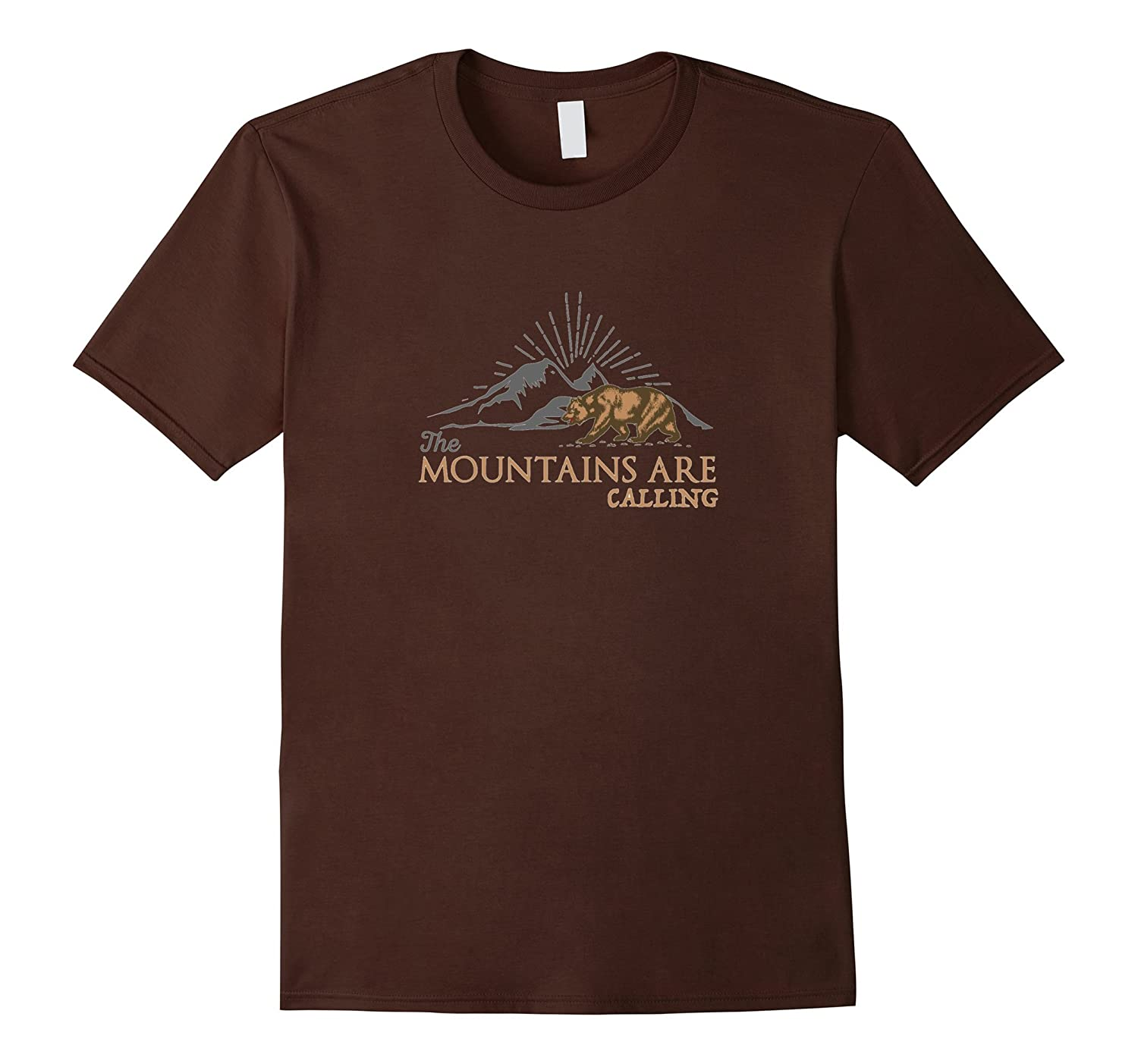 Vintage Outdoor Shirt - Mountains Are Calling Outdoor Shirt-Vaci