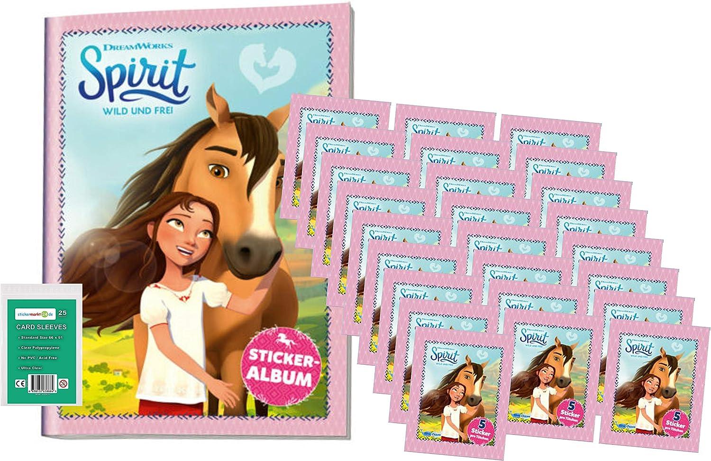 25 Booster 2020 - Album + stickermarkt24de Sleeves 125 Sammel Sticker Blue Ocean Spirit Wild und Frei Sticker
