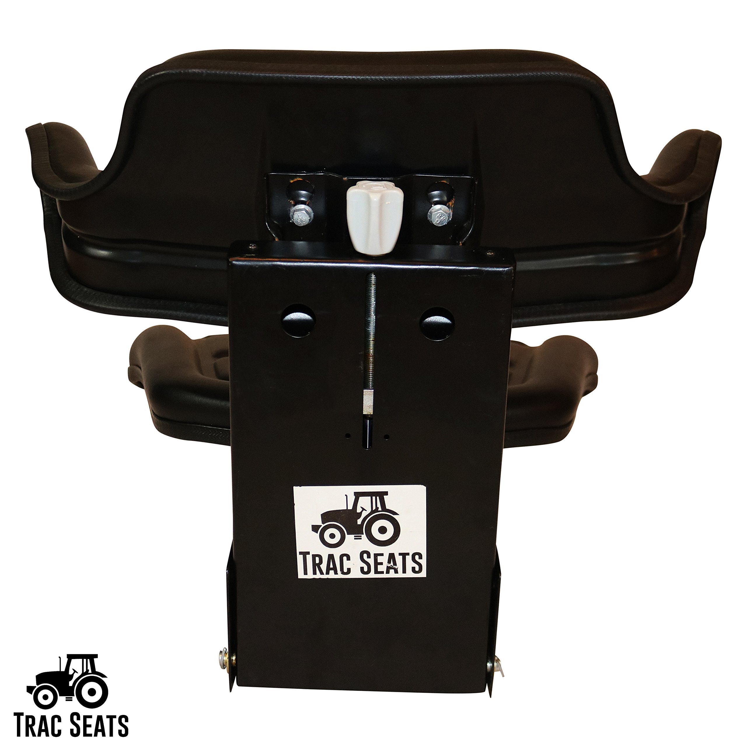 Black TRAC SEATS Brand Waffle Style Universal Tractor Suspension SEAT with TILT FITS Massey Ferguson 230 231 234 234H 234S 235 240 245 250 254 255 (Same Day Shipping - Delivers in 1-4 Business Days) by TRAC SEATS
