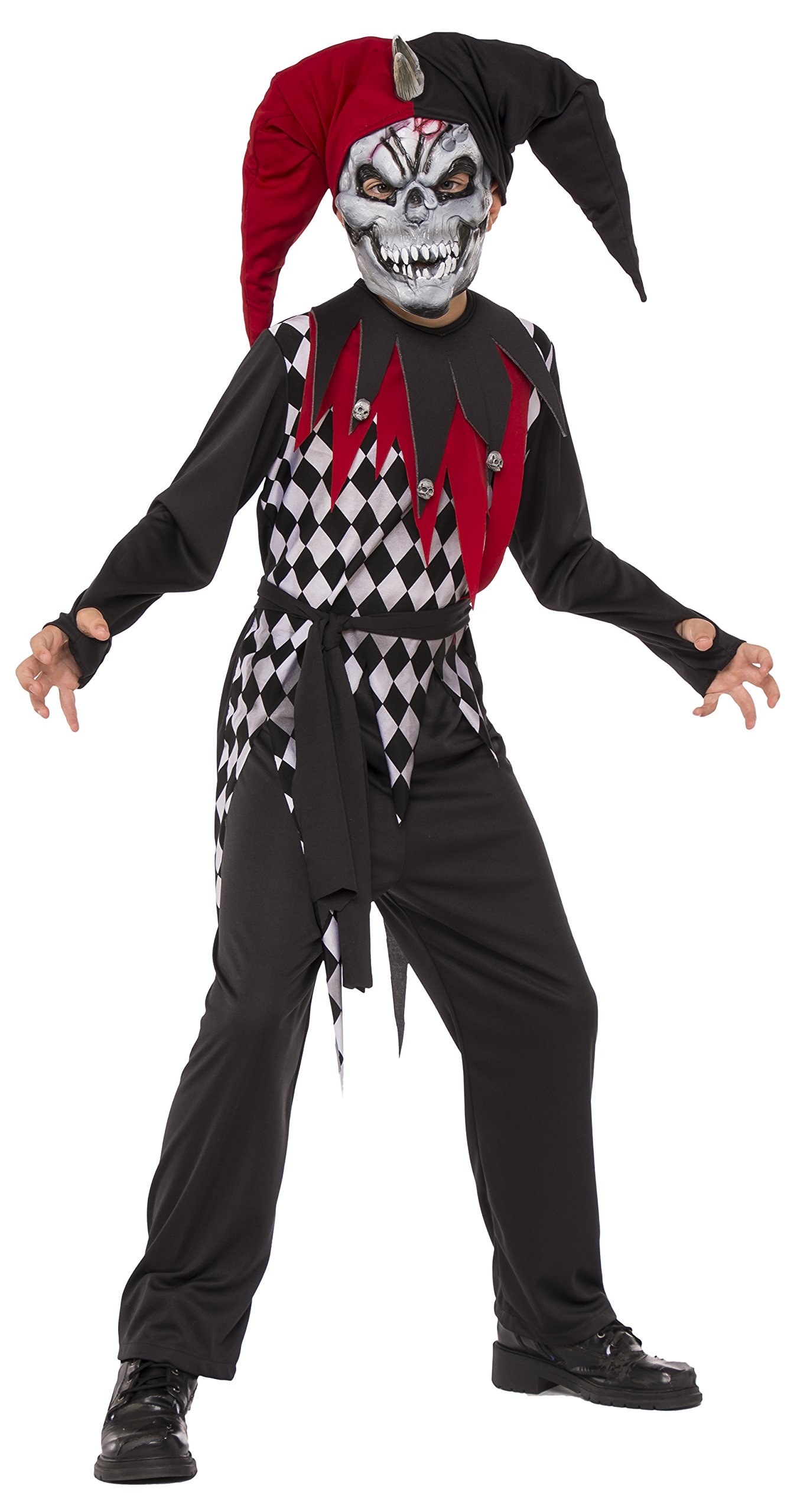 Rubies Child's Evil Jester Costume, Small, Multicolor