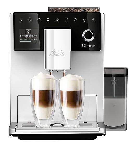Melitta CI Touch F630-101, Cafetera Superautomática, Molinillo Silencioso, Café Personalizable, Pantalla Táctil TFT a Color, Plata