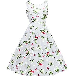 NINEWE Womens Classy Audrey Hepburn 1950s Vintage Rockabilly Swing Dress