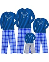 Winter Whiteout Love Your Family Blue Adult Pajama Set & Kids Playwear; Choose Adult or Kids