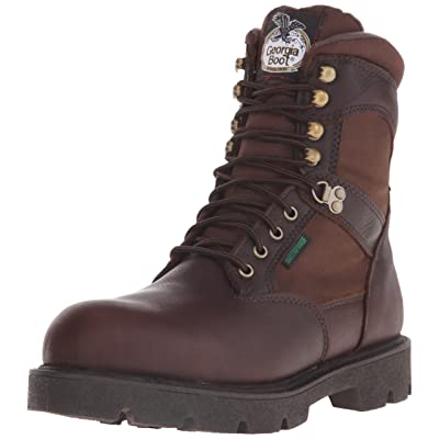 Georgia Boot Men's Homeland 8 Inch Steel Toe Work Shoe, Brown, 11.5 W US | Industrial & Construction Boots