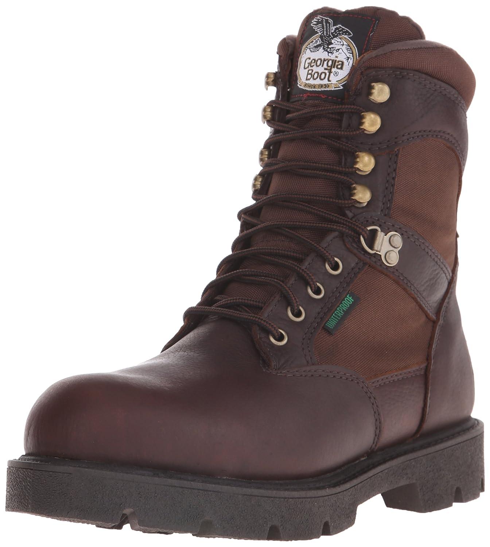 d67b19a8e6d Georgia Boot Men's Homeland 8 Inch Steel Toe Work Shoe, Brown, 10.5 W US