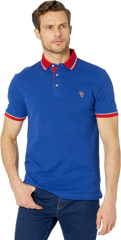 US Polo Assn. Men's Slim Fit Contrast Pique Polo
