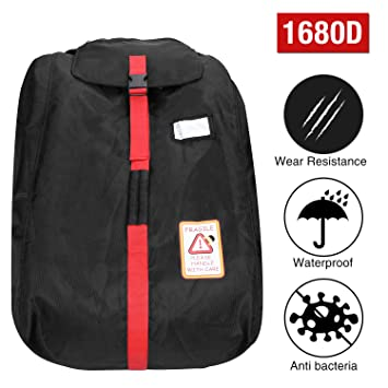 Modokit 1680D Durable Car Seat Travel Bag Backpack Airplane Gate Check With Storage Pouch
