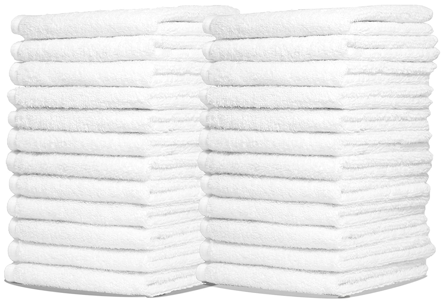 Zeppoli Wash Cloth Kitchen Towels 24Pack 100 Natural Cotton Bath Towels 12 x 12 Hand Towels