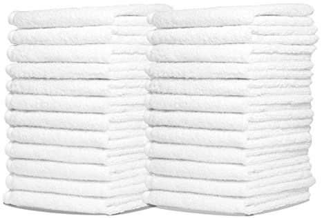 Home & Garden Clean All White 50 Pack Super Strong Absorbent General Everyday Cleaning Cloths