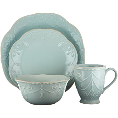Lenox French Perle 4-Piece Place Setting, Ice Blue