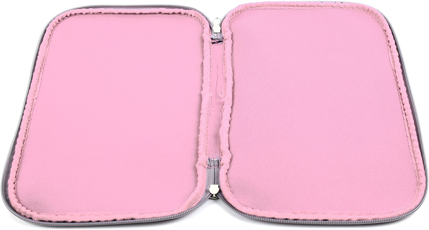 Mini 8 //I-Onik TP785-12000C Compatible with Haier Pad Maxi 10.1-Inch TP8-1500DC DURAGADGET Water Resistant Pink Neoprene Sleeve w//Dual Zips TP8-1500DC /& TP8-1200QC Tablets