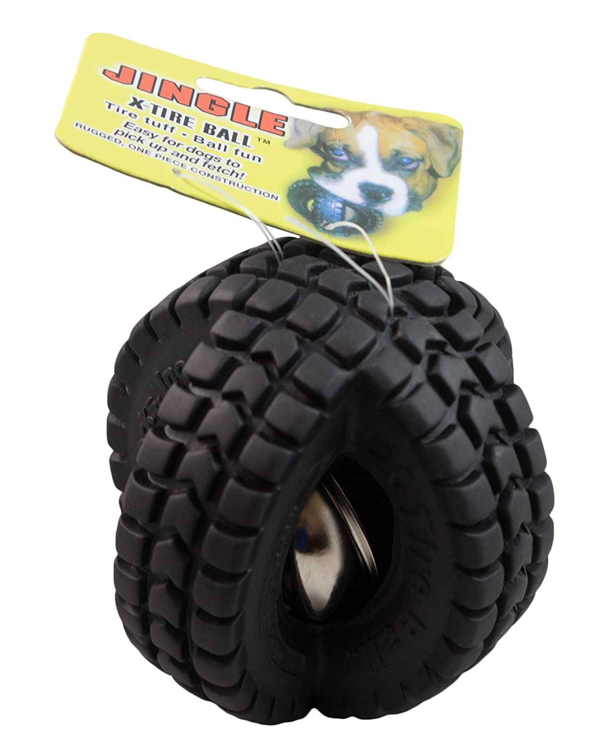 Small  10-Pack Pet Qwerks Jingle X-Tire Ball Dog Toy, Small, 10-Pack