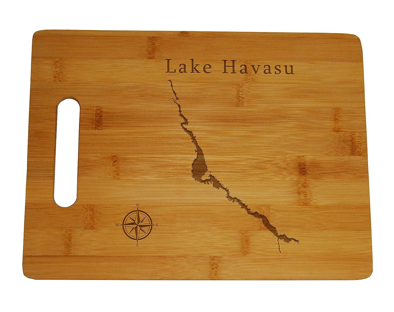 Lake Havasu Map Engraved Bamboo Cutting Board 9.75x13.75 Arizona California