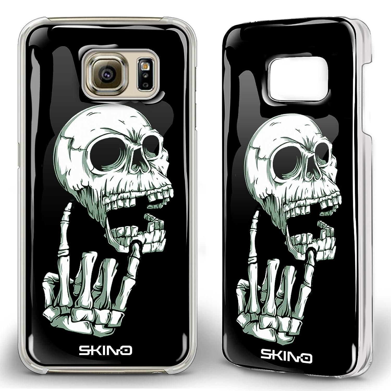 Skino 3D Smart Gel Skull Sch/ädel Mittelfinger Totenkopf Heavy Metal Design Case Hands Free Selfie Handy H/ülle f/ür Samsung Galaxy SK 7 Samsung Galaxy S7 Edge