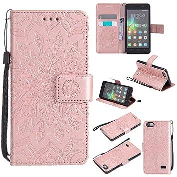 Qiaogle Teléfono Case - Funda de PU Cuero Billetera Clamshell Carcasa Cover para Huawei G Play Mini / (Honor 4C) (5.0 Pulgadas) - KT49 / Classic ...