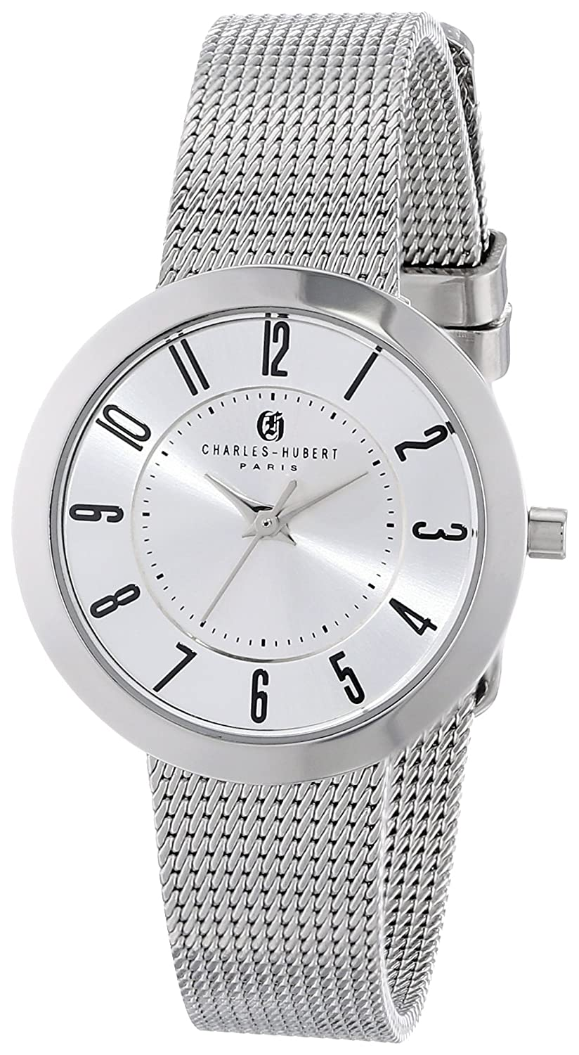 Charles-Hubert Paris Damen 6948-W Premium Collection White Dial Armbanduhr