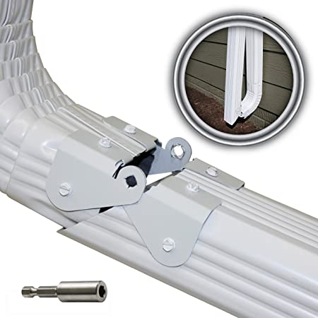 Zip Hinge 6 Pack Plus 1 6 Packs Of Gutter Extension Hinges Also Includes Clasp Screws Magnetic Nutsetter Instructions Easy Diy Installation On Any Size Rectangle Or Square Downspout Amazon Com