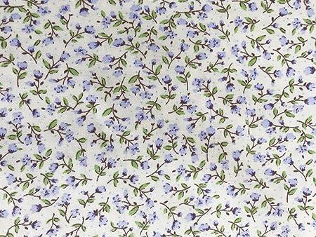 ROSE & HUBBLE - Cotton Poplin Print Ditsy Lilac Floral Design on Cream  Background 112cm 100% Cotton Fabric -130gsm - Per Metre