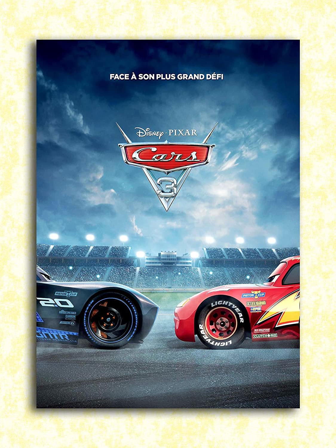 Tamatina Hollywood Movie Wall Poster Cars 3 Lightning Mcqueen Jackson Storm Hd Quality Movie Poster Amazon In Home Kitchen
