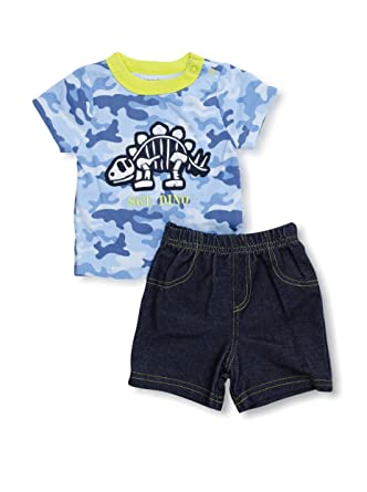2b580542182b Amazon.com  Babyworks Infant Boys 2-Piece Camouflage Dinosaur T ...