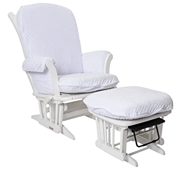 Luxe Basics Cover Me Glider Chair Cover (Chair NOT Included), White Dot