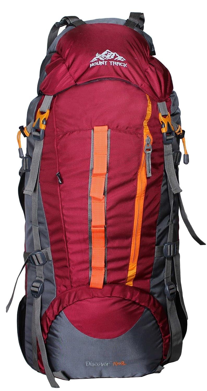 Mount Track Discover 9107 Rucksack, Hiking Backpack 75 Ltrs Maroon