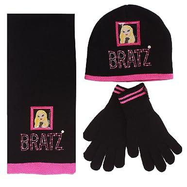 Bratz - Ensemble bonnet, écharpe et gants - Fille Noir Noir  Amazon ... 64ce617a26d