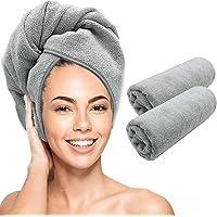 Scala Toalla de microfibra para el pelo – Magic Instant Quick Dry Turbante Twist para mujer, anti encrespamiento rizado…