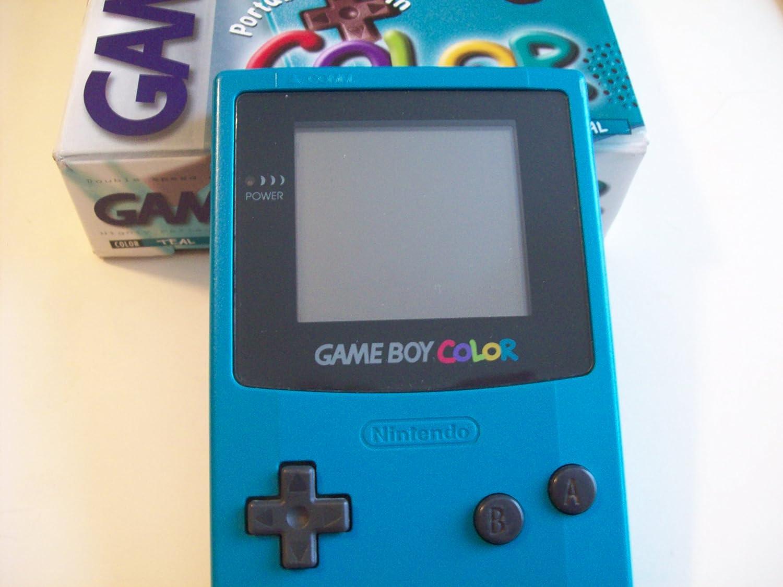 Game boy color - Amazon Com Gameboy Color Teal Nintendo Gameboy Color Professionally Refurbished Video Games