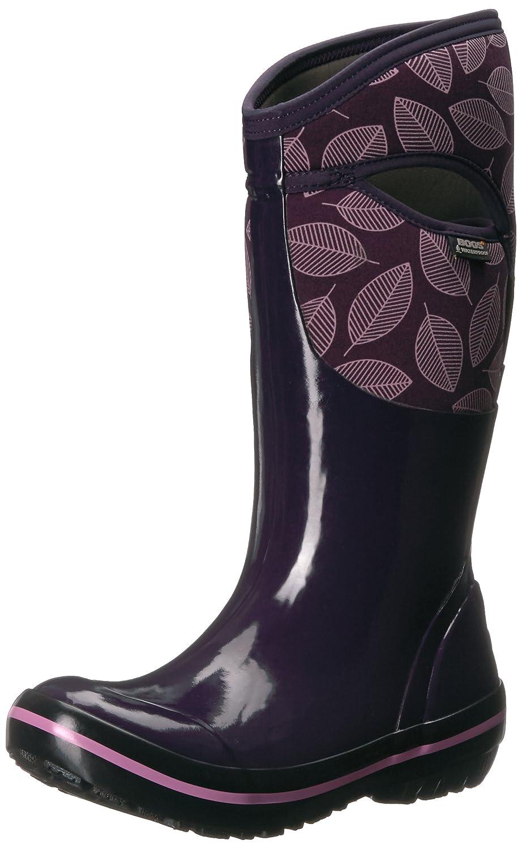 Bogs Women's Plimsoll Leafy Tall Snow Boot B01N7VJM7I 11 B(M) US|Eggplant Multi