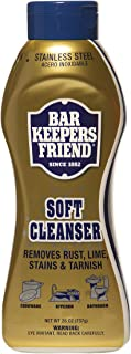 product image for Bar Keepers Friend Soft Cleanser Liquid (26 oz - English/Spanish) - Multipurpose Cleaner & Rust Stain Remover for Stainless Steel, Porcelain, Ceramic Tile, Copper, Brass, and More (1)